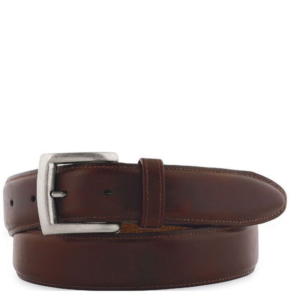 Image for Johnston & Murphy Men's Waxed Leather Belt - Brown from bootbay