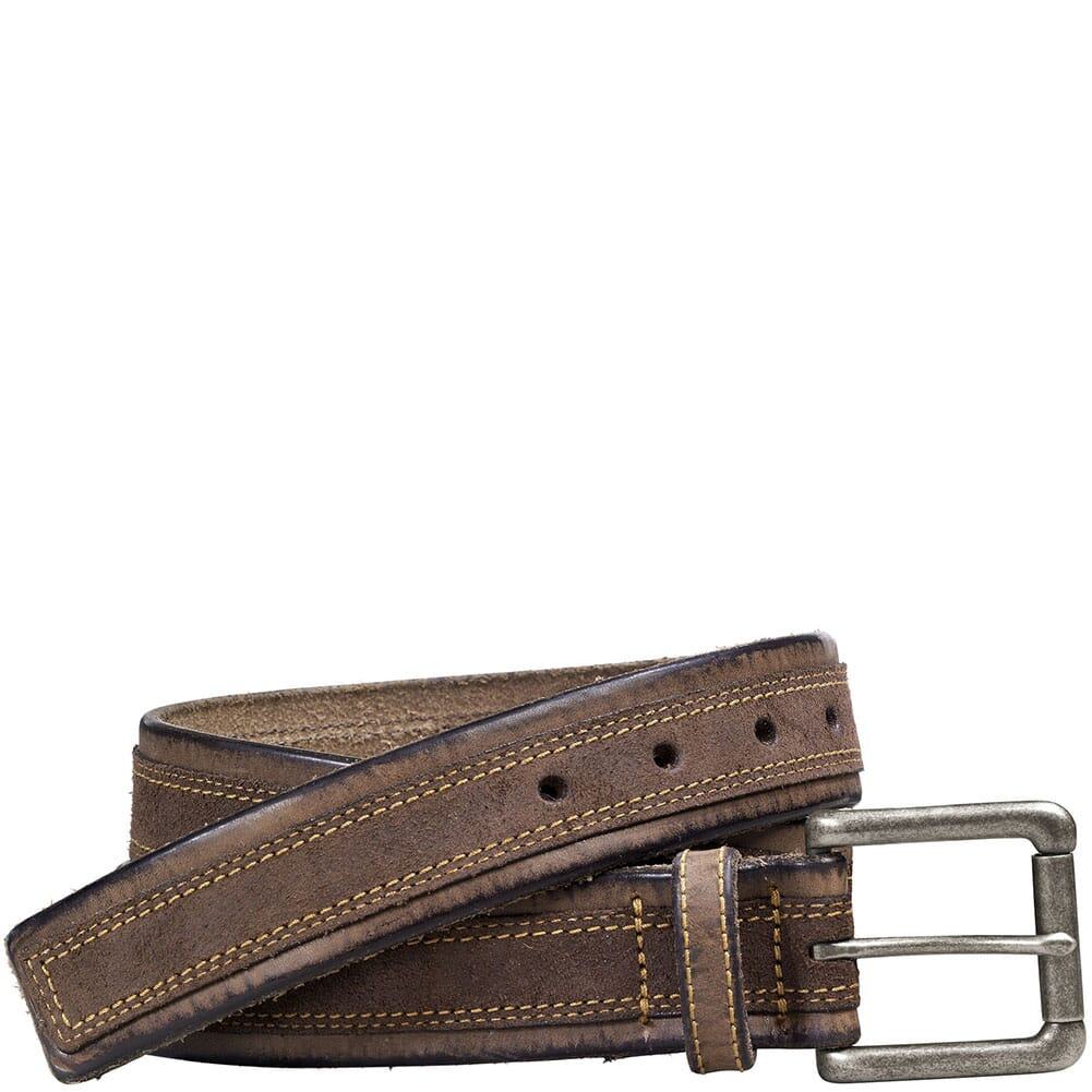 Image for Johnston & Murphy Men's Distressed Overlay Belt - Brown from bootbay