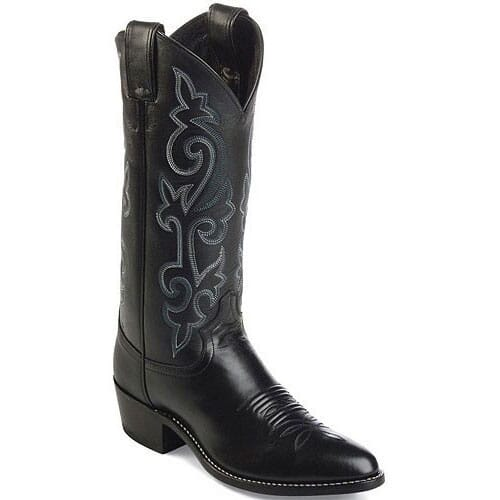 Image for Justin Men's London Cowboy Western Boots - Black from bootbay