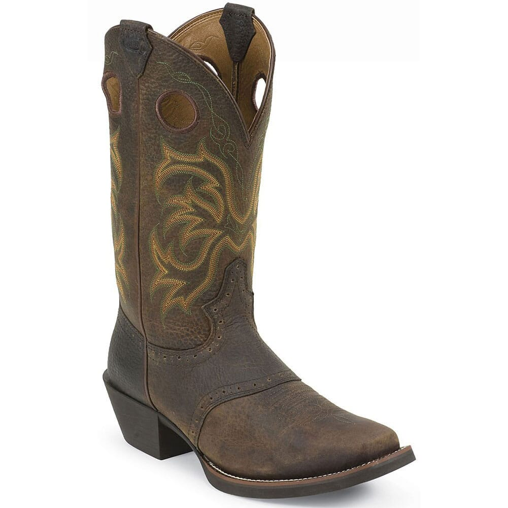 Image for Justin Men's Stampede Punchy Western Boots - Brown from bootbay