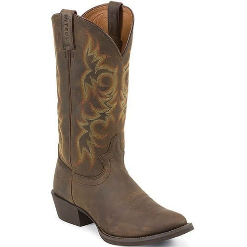 Image for Justin Men's Stampede Western Boots - Sorrel Apache from bootbay