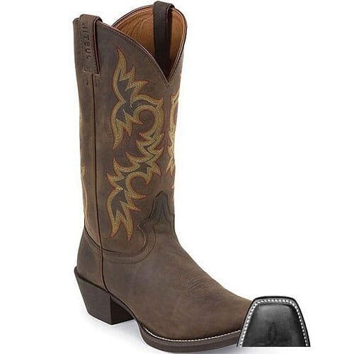 Image for Justin Men's Stampede Square Toe Western Boots - Sorrel Apache from bootbay