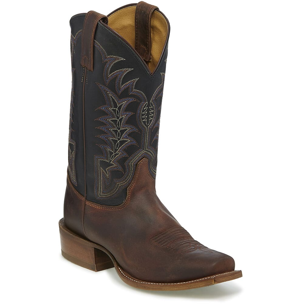 Image for Justin Men's Hank Western Boots - Brown from bootbay