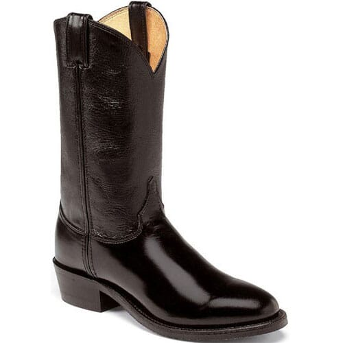 Image for Justin Men's Melo-Veal BLK Western Boots - Black from bootbay