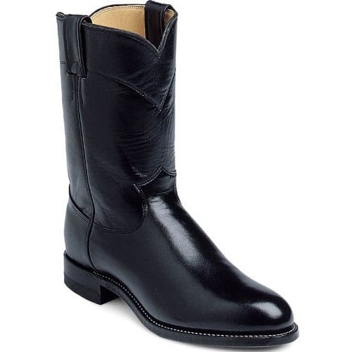 Image for Men's Kipskin Western Justin Ropers - Black from bootbay