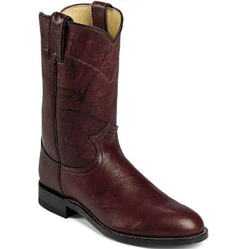 Image for Men's 10IN Classic Western Justin Ropers - Dark Brown from bootbay