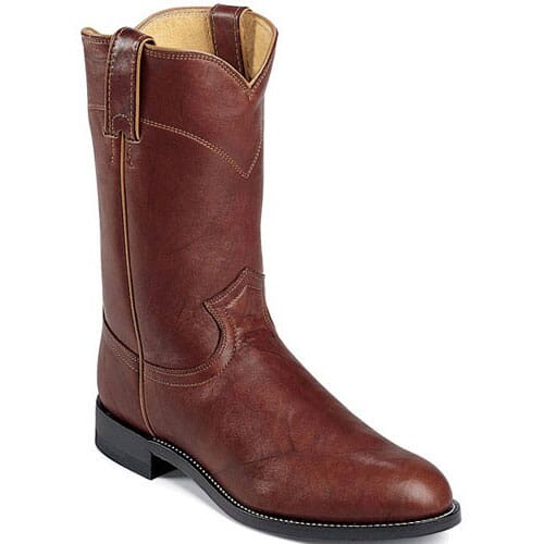 Image for Men's Roper Toe Classic Western Justin - Chestnut from bootbay