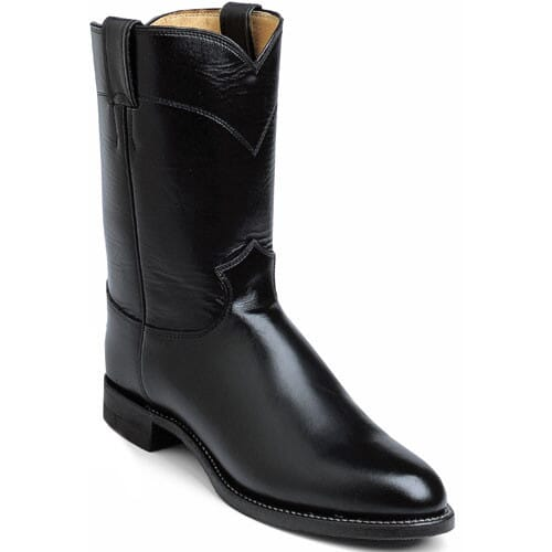Image for Men's Melo-Veal Western Justin Ropers - Black from bootbay