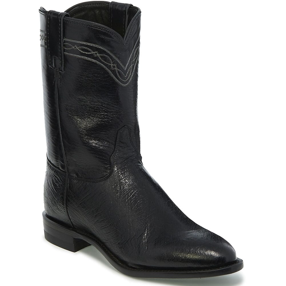 Image for Justin Men's Brock Western Ropers - Black from bootbay