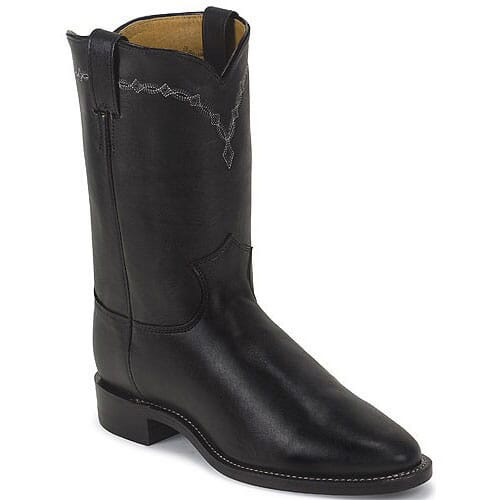 Image for Men's J11 Chester Western Justin Ropers - Black from bootbay