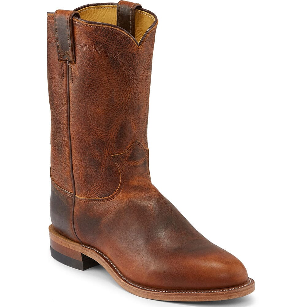 Image for Justin Men's Brock Western Ropers - Butterscotch from bootbay
