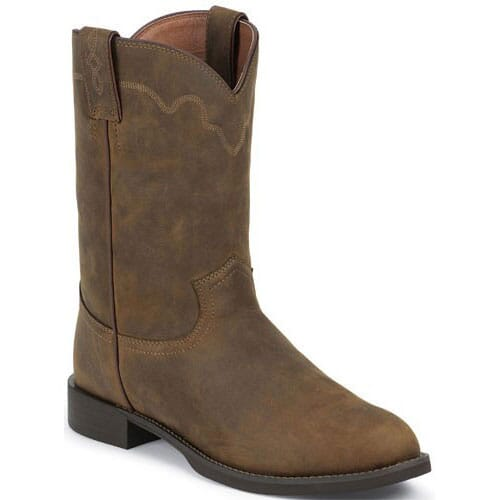 Image for Men's Apache 10IN  Western Justin Ropers - Tan from bootbay