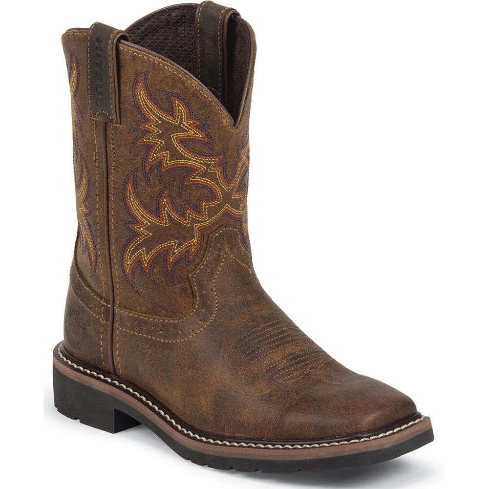 Image for Justin Kid's Cattleman Western Boots - Tan from bootbay