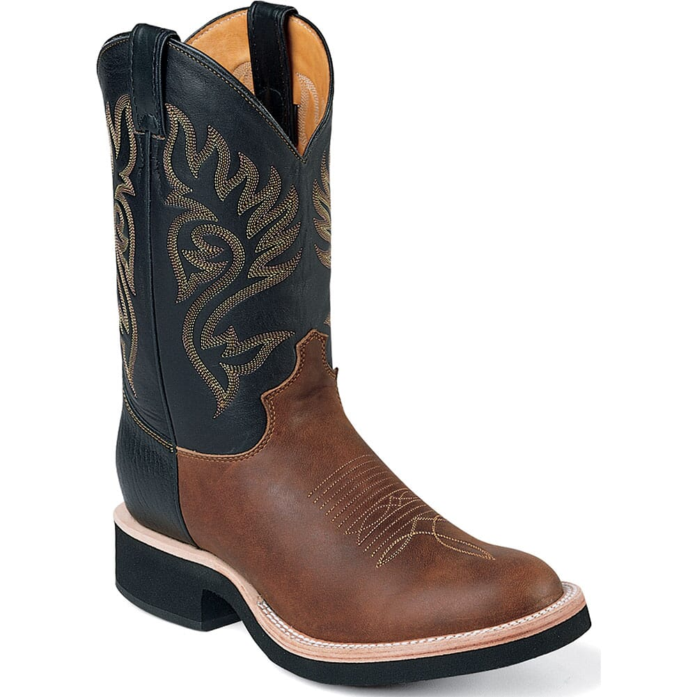 Image for Justin Men's Paluxy Western Boots - Black/Brown from bootbay