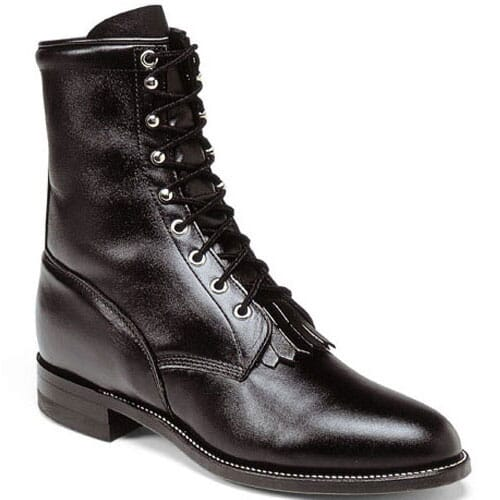 Image for Justin Men's Kiddie Western Classic Lacers - Black from bootbay