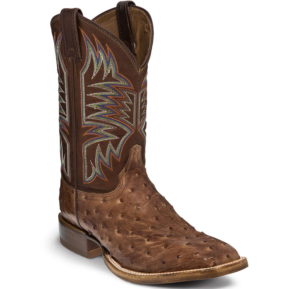 Image for Justin Men's Josiah Western Boots - Dark Brown from bootbay