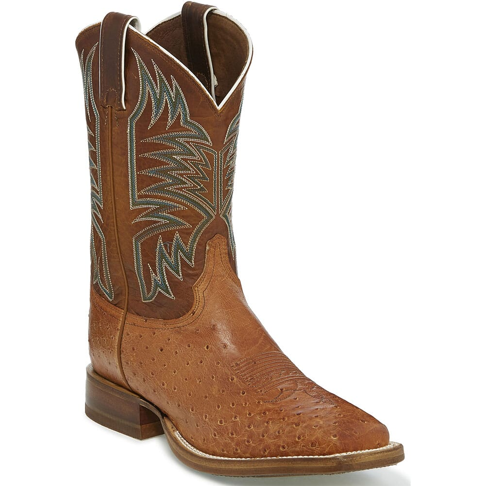 Image for Justin Men's Josiah Western Boots - Orange/Cognac from bootbay