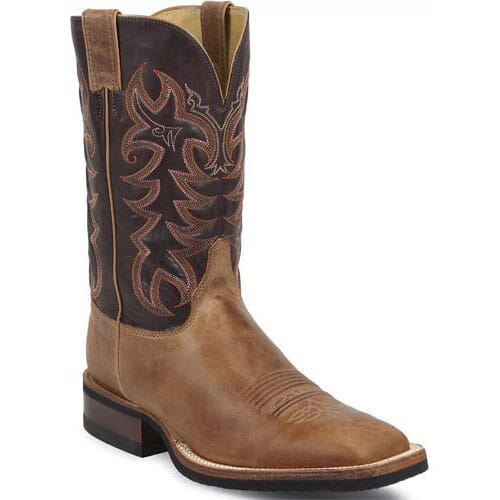 Image for Justin Men's AQHA Q-Crepe Western Boots - Chocolate from bootbay