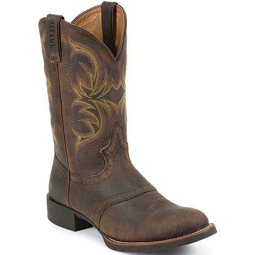 Image for Justin Men's Stampede Cattleman Western Boots - Brown from bootbay