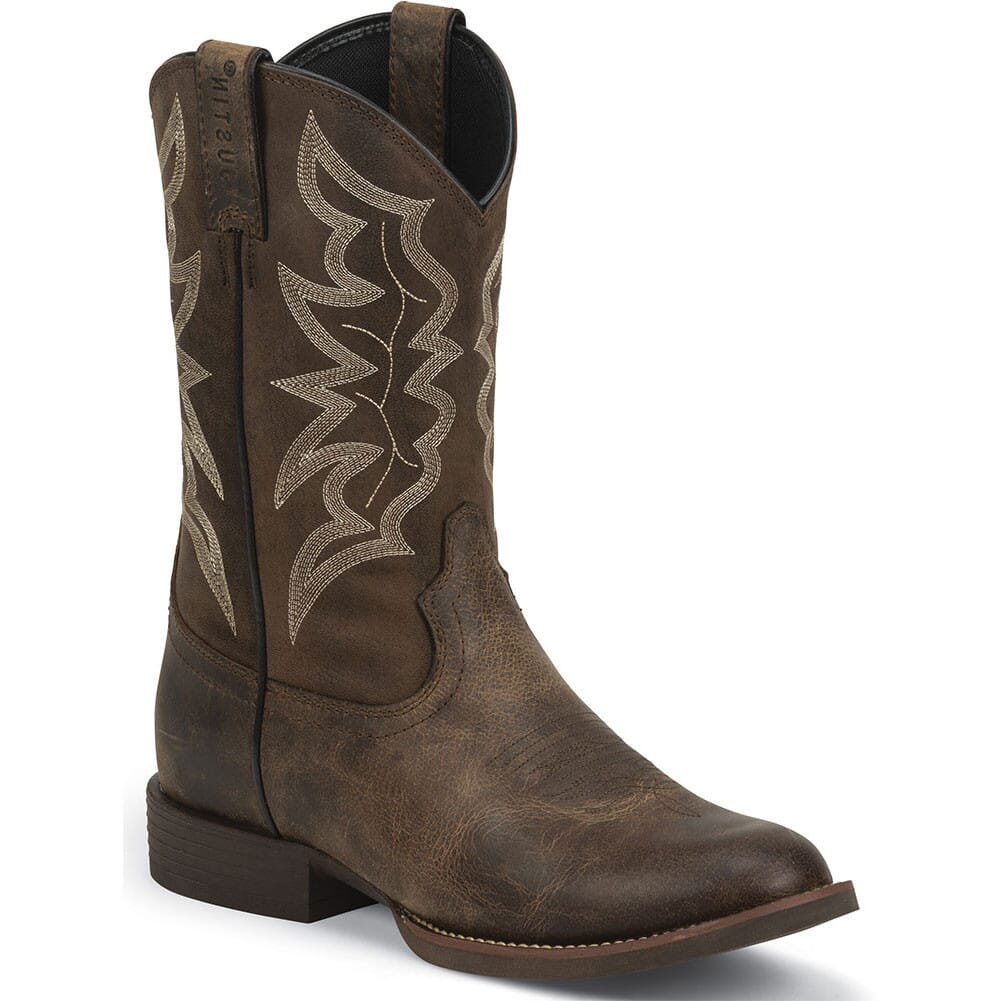 Image for Justin Men's Stampede Western Boots - Distressed Brown from bootbay
