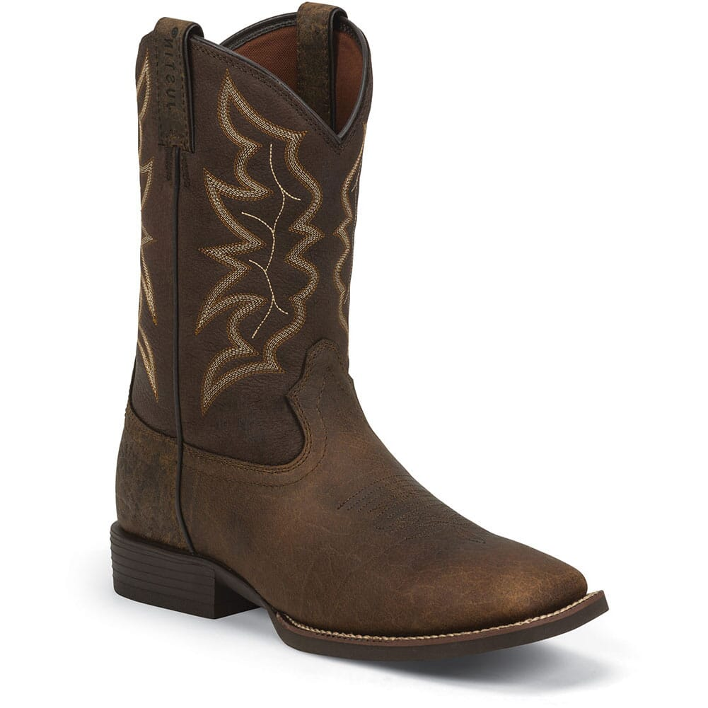 Image for Justin Men's Chet Western Boots - Pebble Brown from bootbay