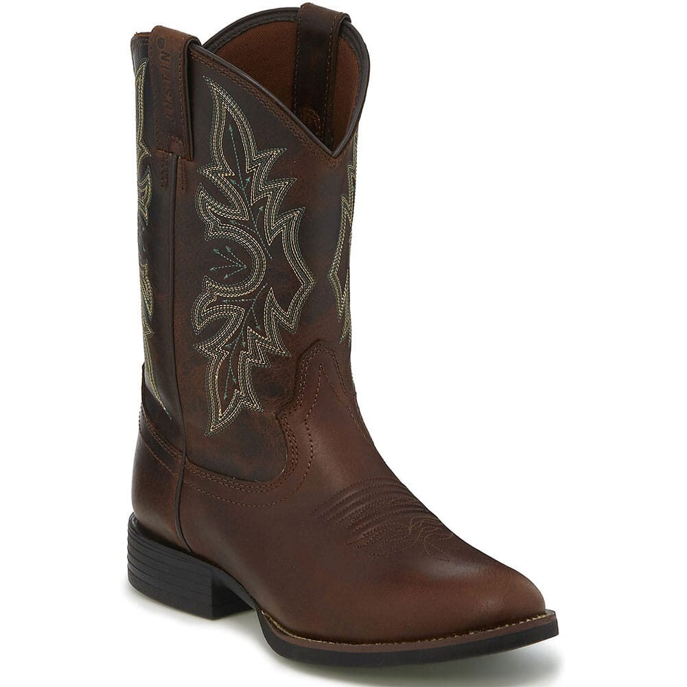 Image for Justin Men's Buster Western Boots - Brick Buff from bootbay