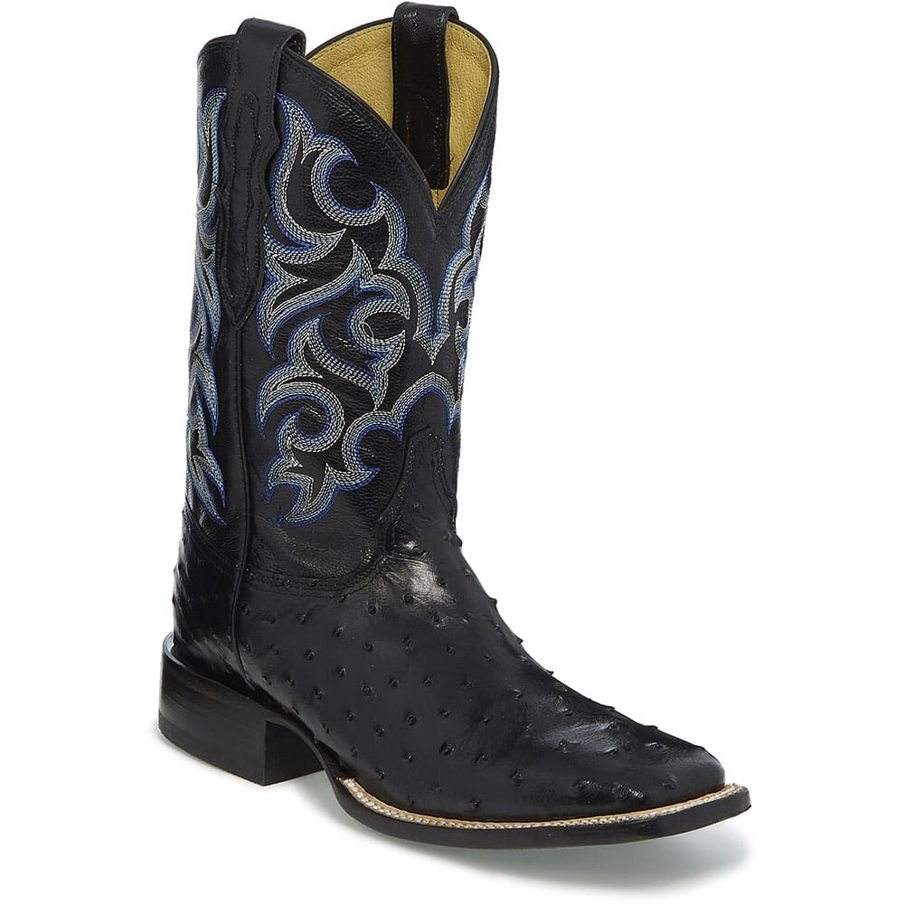Image for Justin Men's Truman Western Boots - Black from bootbay