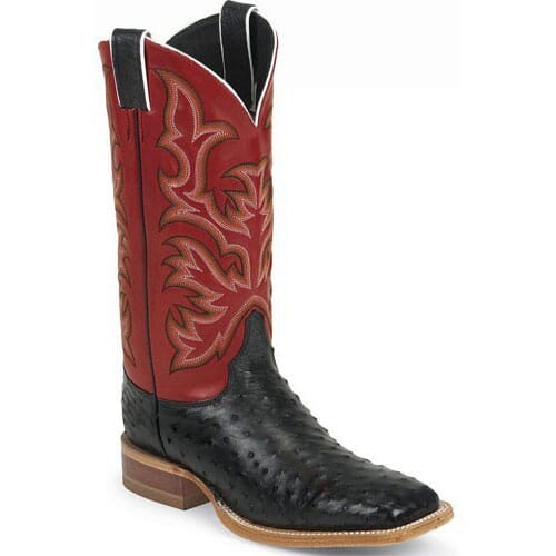 Image for Justin Men's AQHA Remuda Western Boots - Red from bootbay