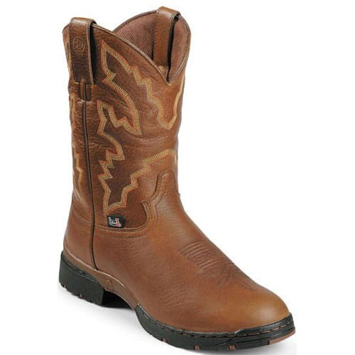 Image for Justin Men's Waterproof Western Work Boots - Sunset from bootbay