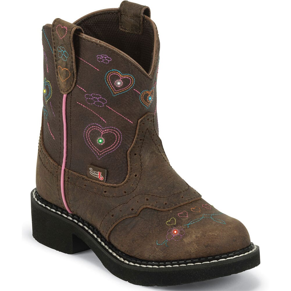 Image for Justin Kid's Esmerelda Western Boots - Brown from bootbay