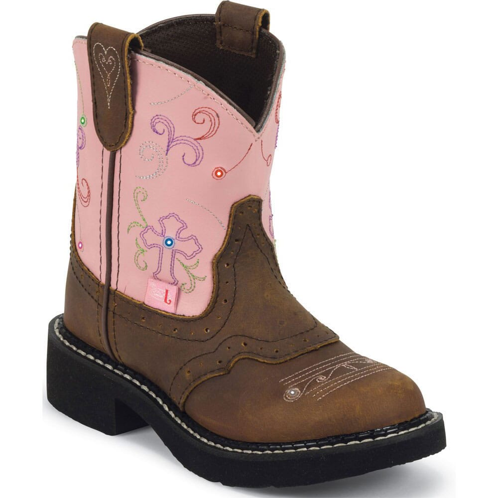 Image for Justin Youth Cowboy Western Boots - Pink from bootbay