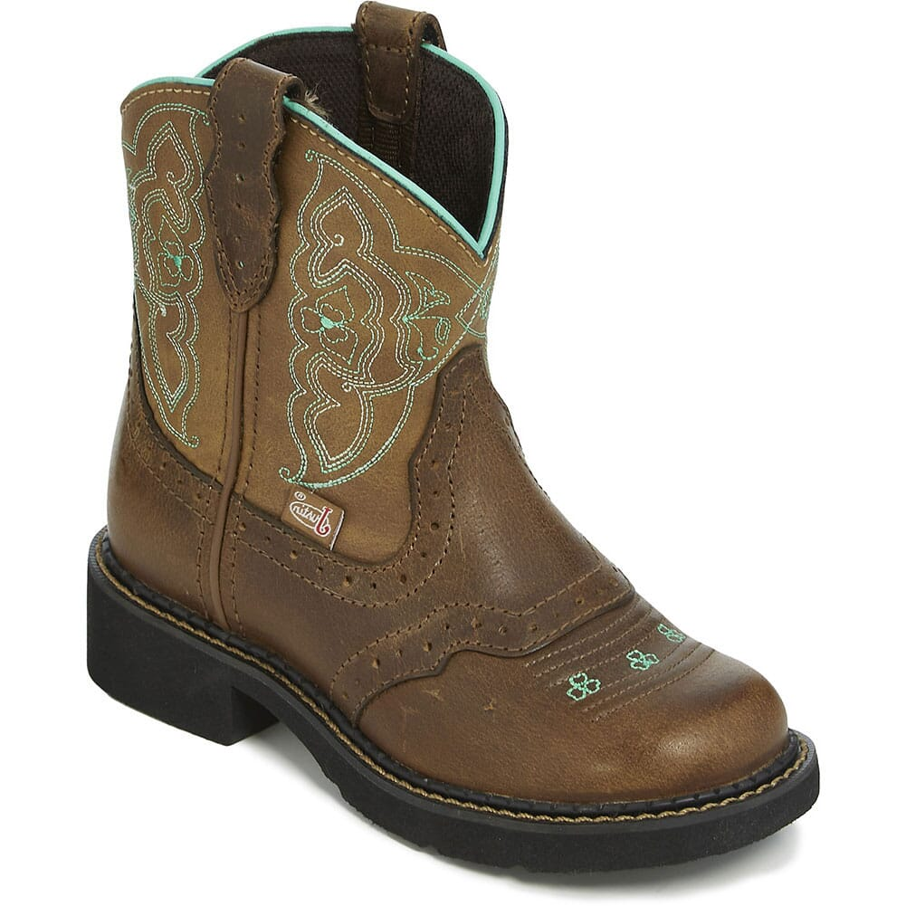 Image for Justin Kid's Nuri Western Boots - Tan/Buffalo from bootbay