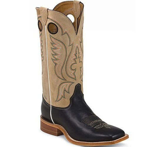 Image for Justin Men's Bent Rail Western Boots - Toast/Black from bootbay