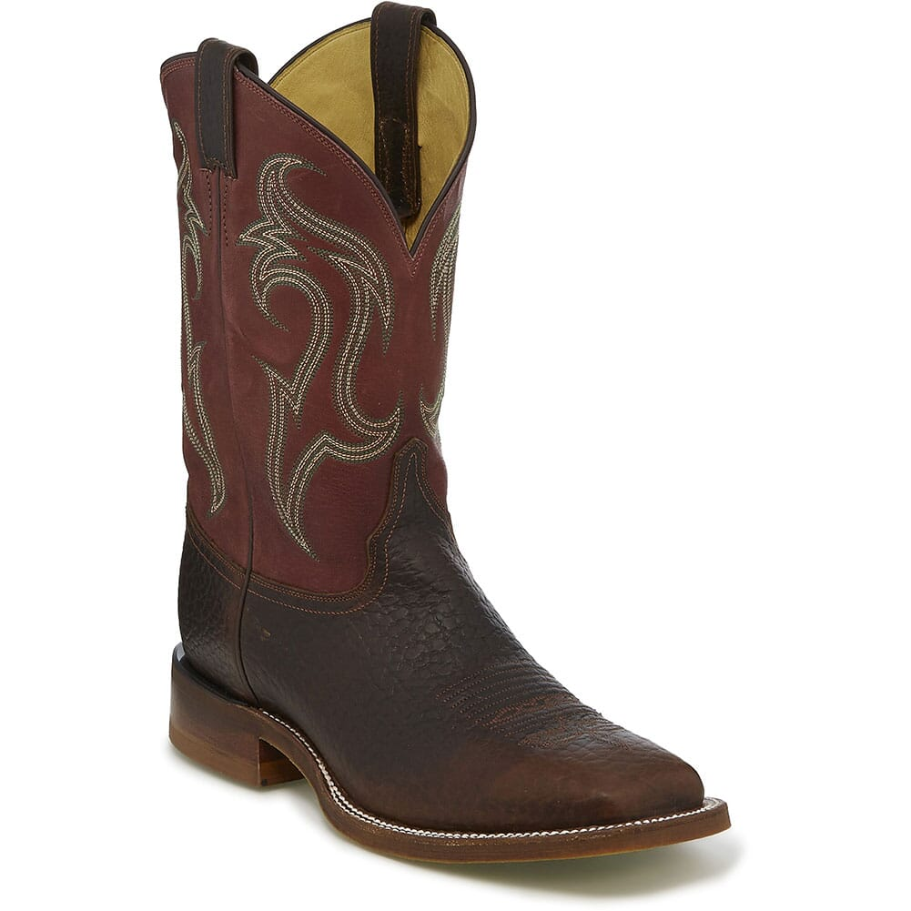 Image for Justin Men's Bender Western Boots - Riley Brick/Whiskey from bootbay