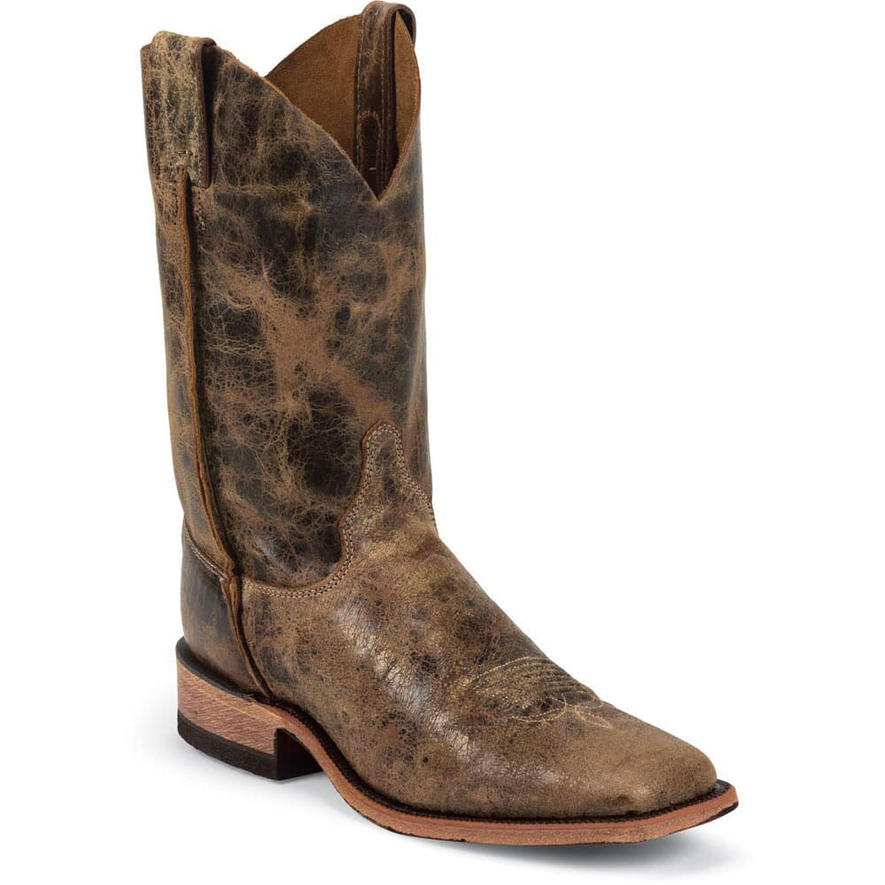 Image for Justin Men's Bent Rail Western Boots - Tan Road from bootbay