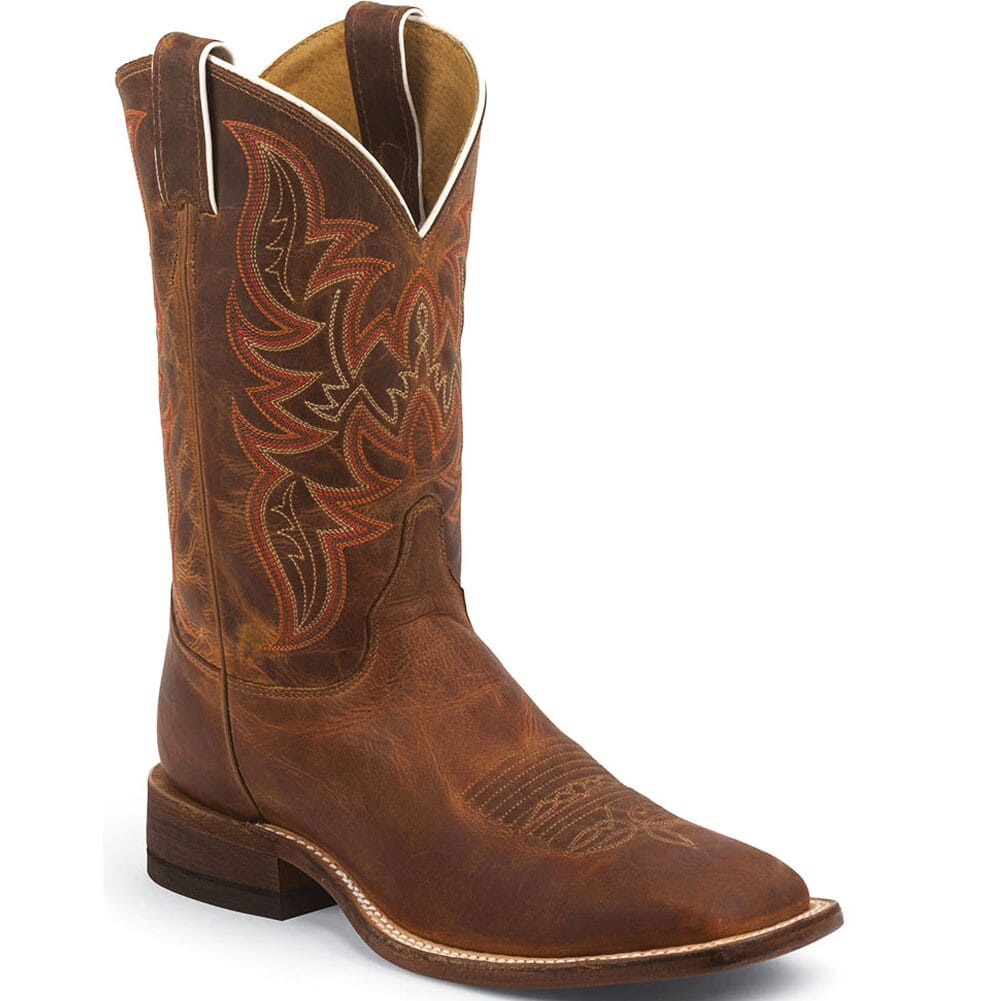 Image for Justin Men's Bent Rail Western Boots - Distressed Cognac from bootbay