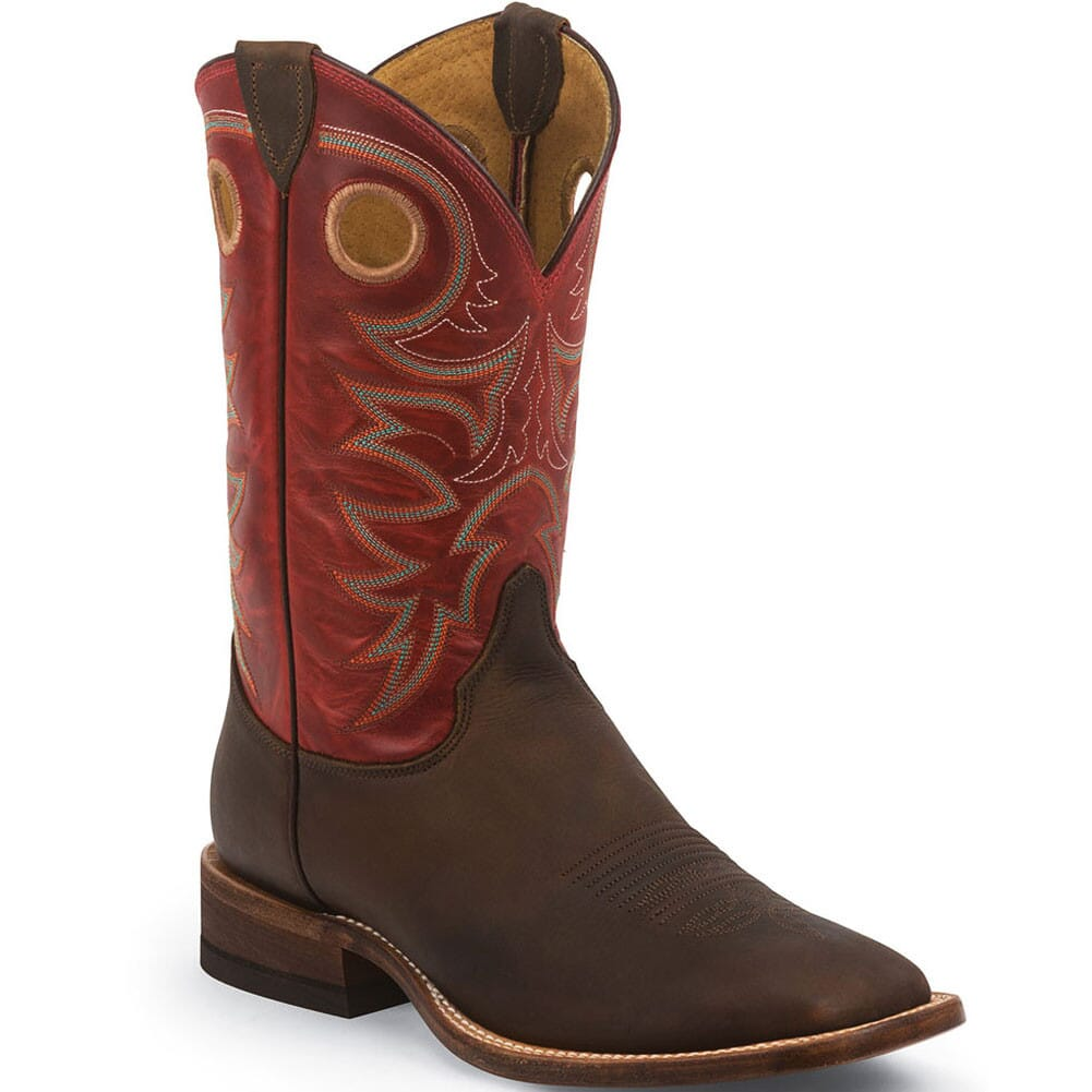 Image for Justin Men's Bent Rail Western Boots - Dutch Red/Tobacco from bootbay