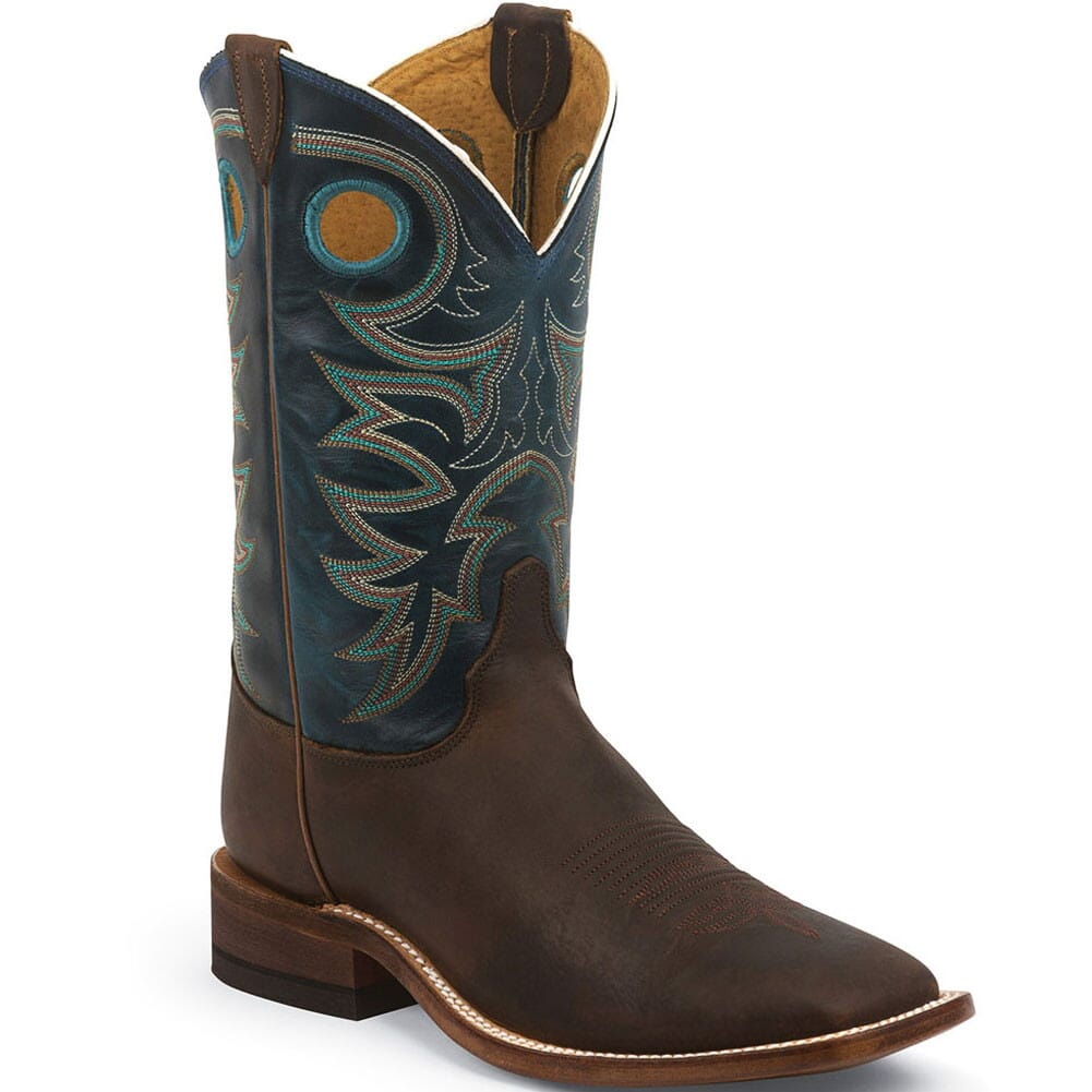 Image for Justin Men's Bent Rail Western Boots - Topaz/Copper from bootbay