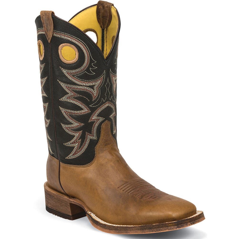 Image for Justin Men's Bent Rail Western Boots - Black/Brown from bootbay