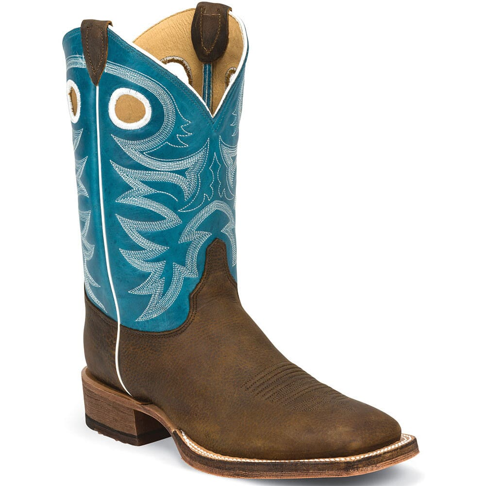 Image for Justin Men's Bent Rail Western Boots - Candy Blue/Copper from bootbay
