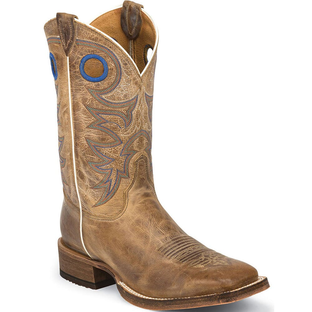 Image for Justin Men's Bent Rail Western Boots - Beige from bootbay
