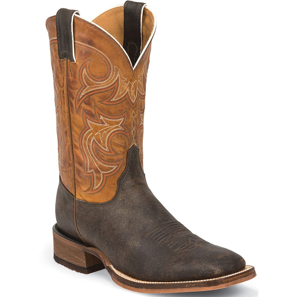 Image for Justin Men's Caddo Western Boots - Dark Brown from bootbay