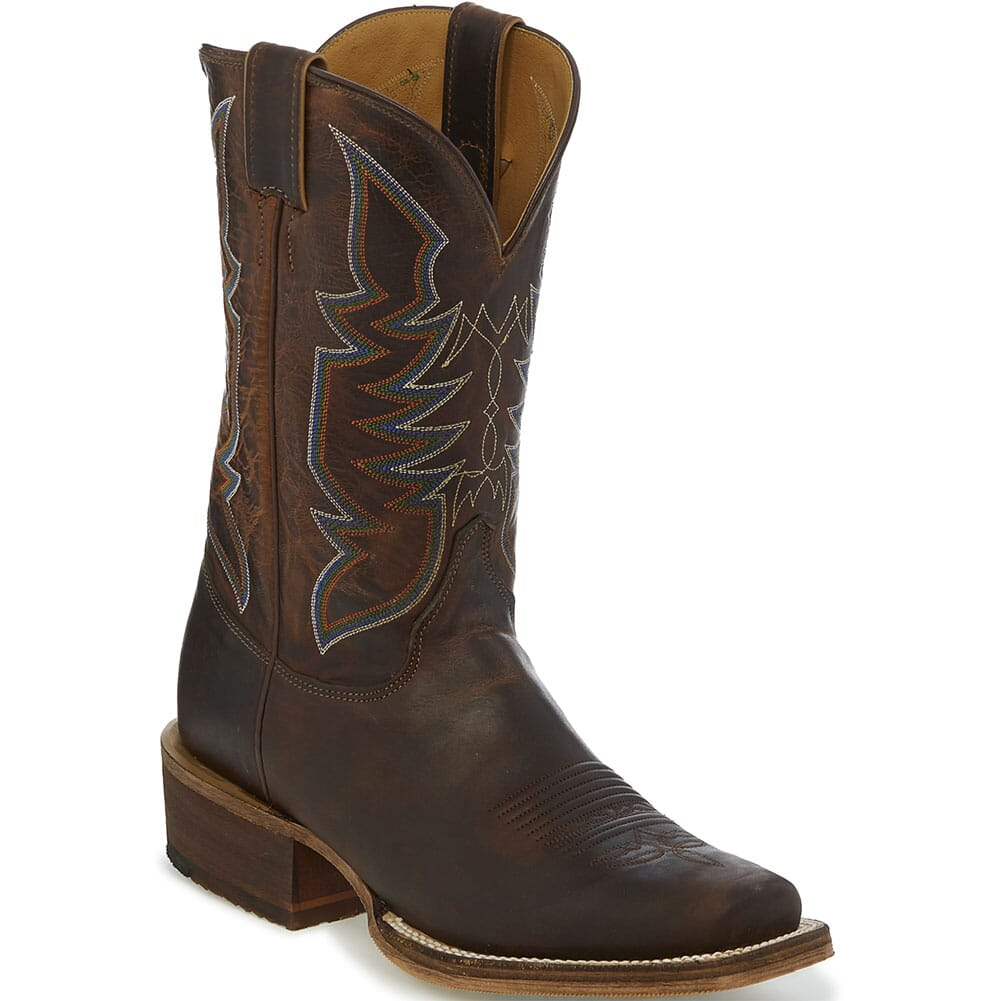 Image for Justin Men's Navigator Western Boots - Stone Age from bootbay
