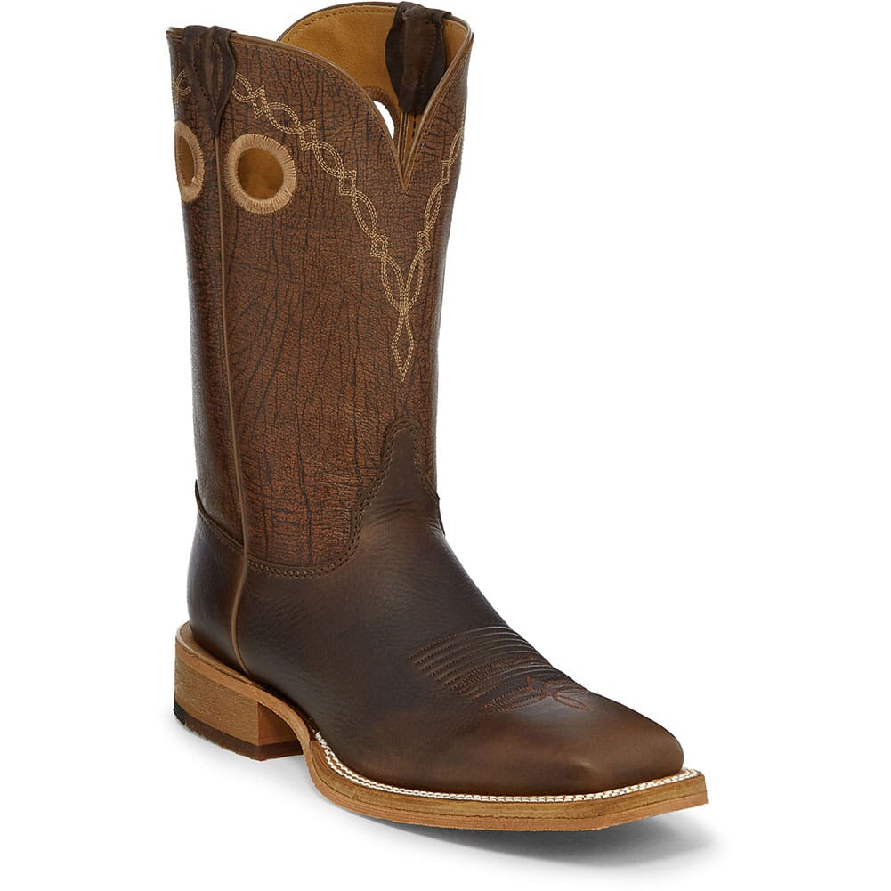Image for Justin Men's Caddo Western Boots - Mahogany/Grizzly Brown from bootbay