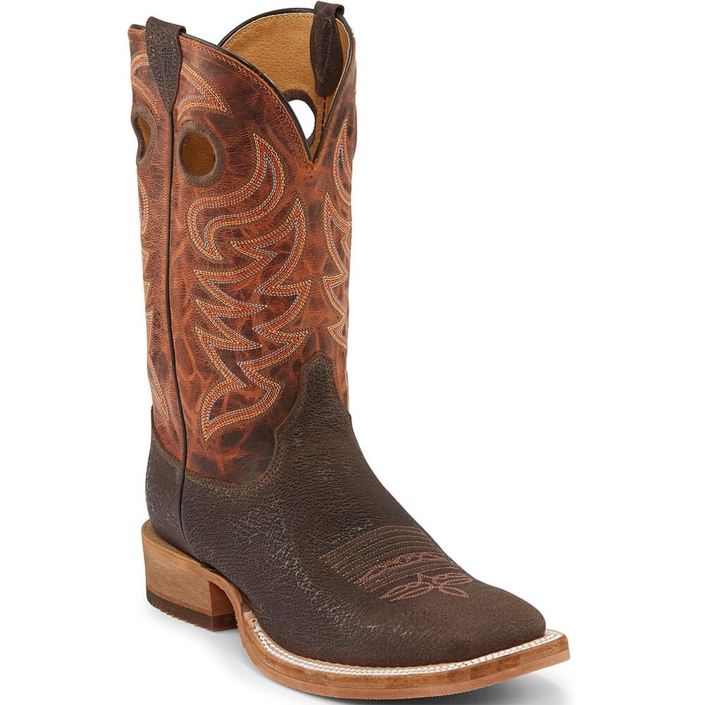Image for Justin Men's Caddo Western Boots - Peanut from bootbay