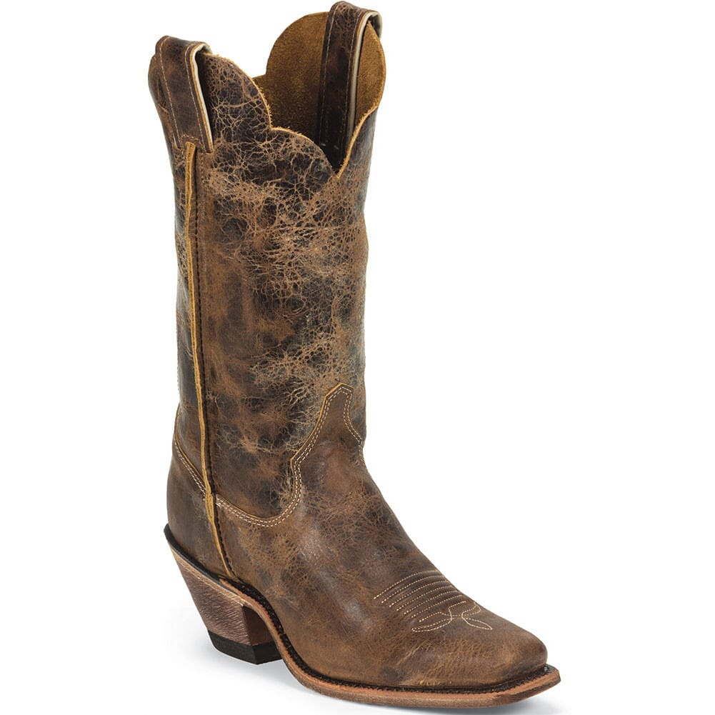 Image for Justin Women's Bent Rail Western Boots - Tan Road from bootbay