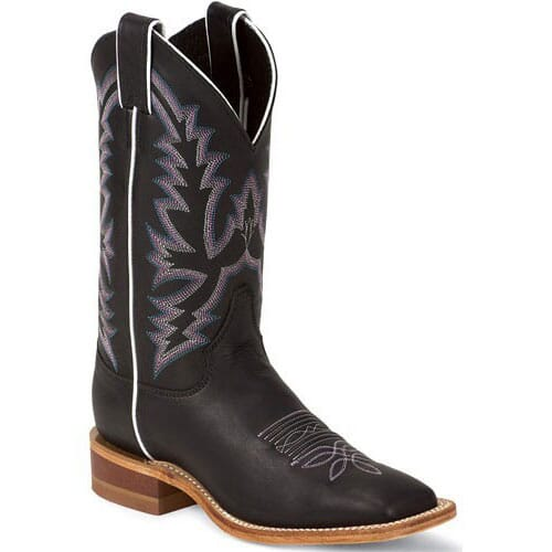 Image for Women's Bent Rail Western Justin Boots - Black from bootbay