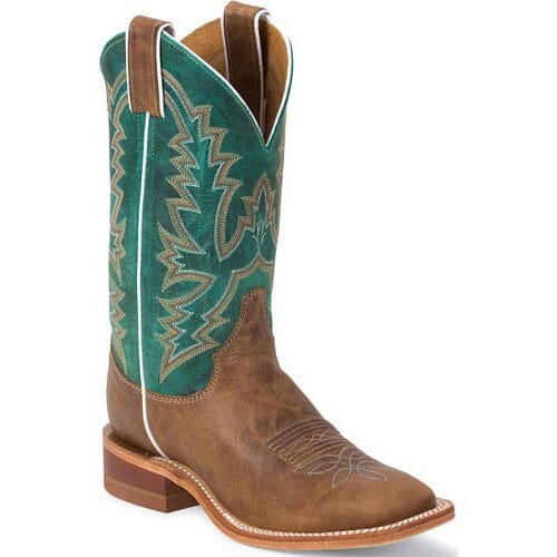 Image for Women's Bent Rail Western Justin Boots - Turquoise from elliottsboots