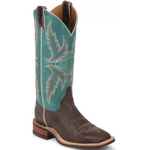 Image for Women's Bent Rail Western Justin Boots - Blue from elliottsboots
