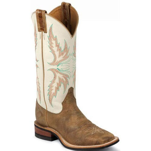 Image for Women's Bent Rail Western Justin Boots - Ivory from elliottsboots